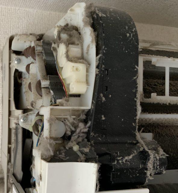 おそうじ機能付きエアコンクリーニング     故障に繋がるケース 川口市〜